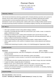pharmacist cv example and template intern pharmacist resume pharmacist cv example and pharmacy intern resume