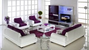 Purple Living Room Set Purple And Grey Living Room Accessories Black Faux Leather Sofa