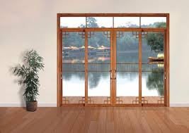 emphasize interesting appearance space with alluring sliding glass doors engaging chinese four alluring wall sliding doors