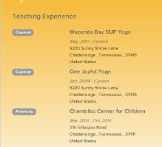 build your online yoga resume   yoga alliance    are fine examples of yoga resumes that show a range of teaching experiences  in different locations  including both current and previous places