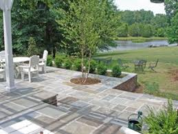 stone patio installation: the stones were dry laid also see my page on blue stone patio prices per square foot