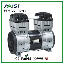 free shipping hyw 1200 ac 110 220v 1200w power oil free piston compressor pump with 200l min vacuum flow