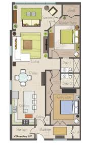 Sq Ft House Plans   divine wesley acres retirement    Awesome small floor plan  Practically two suites  and separated by their bathrooms  Plus