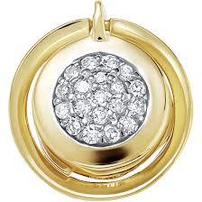 Золотой <b>медальон Vesna</b> jewelry 3985-351-01-00 с бриллиантами