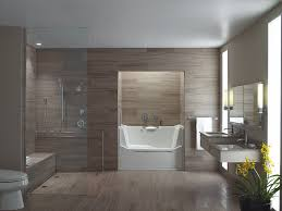 architecture bathroom toilet: bathroom with elongated toilet curbless shower non slip surface walk in