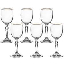 """<b>Набор</b> бокалов для <b>вина</b> 200 мл """"Ларго. <b>Золотая</b> отводка"""", 6 шт ..."""