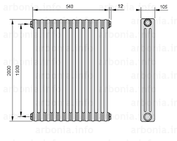 <b>Радиатор ARBONIA 3200</b>/12 №12 цвет <b>сталь</b> под лаком (TF ...