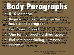 the essay by sidney jones jr body paragraphs