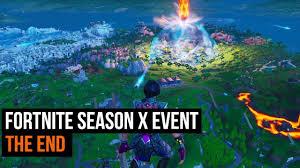 Fortnite Season X event - The End - YouTube