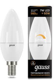 <b>Лампа Gauss LED Candle</b>-dim E14 7W 3000К диммируемая 1/10 ...