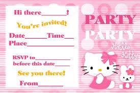 hello kitty printable birthday invitations vertabox com hello kitty printable birthday invitations ideas about how to design hello kitty invitations for your inspiration 20