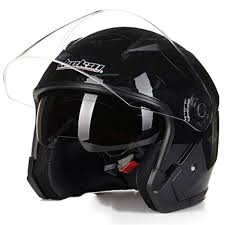 Four Seasons Universal Jiekai Double Lens Motorcycle Helmet 3/4 ...