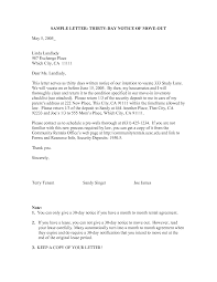 formal day notice letter sample resume  formal 30 day notice letter