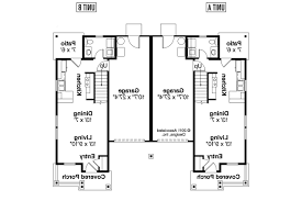 Craftsman House Plans   Rothbury     Associated Designs    Duplex Plan   Rothbury     st Floor Plan