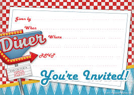 printable s diner invite template s theme printable 1950s diner invite template