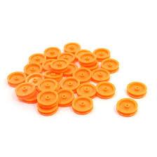 WOTT <b>30 Pcs</b> 2mm Hole <b>Orange Plastic</b> Belt Pulley for DIY RC Toy ...