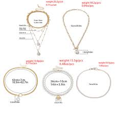 Lacteo <b>Bohemian</b> Big <b>Imitation Pearl</b> Pendant Necklace Jewelry for ...