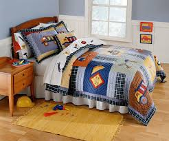 Kids Bedroom Boys Construction Time Bedding For Boys Twin Size 2pc Quilt Set Kids