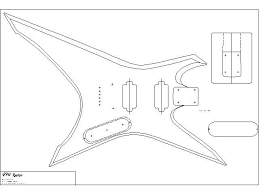 xiphos chitarre pinterest body template and templates on silvertone single pickup wiring diagram