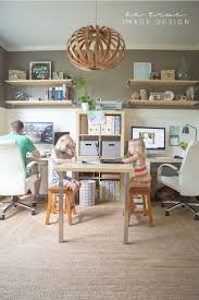 family officewhite paneling shelves khaki paint and sisal amazing playroom office shared space