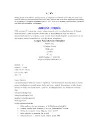 acting resume for beginner resume cover letter example acting resume for beginner