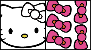 hello kitty pin the bow game the sweet life i am not confident enough to draw a hello kitty s head and bows so i searched through the internet again for a template i found a perfect one here