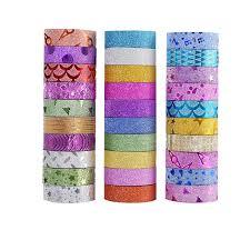 <b>10PCS Glitter Washi Tape</b> Adhesive Tapes DIY Decorative ...