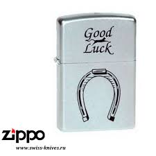 <b>Зажигалка</b> широкая <b>Zippo</b> Classic <b>Horse Shoe</b> Satin Chrome <b>205</b> ...