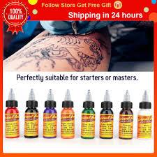 Hot <b>Professional</b> Tattoo Ink Monochrome <b>16Colors</b> Set <b>30ml</b> Bottle ...
