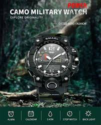 <b>SMAEL</b> 1545 Men Millitary <b>Sport Watch</b>,50m Waterproof Analog ...