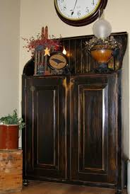 beautiful distressed black with rubbed stain one of my favorite combinations paint black blacks furniture