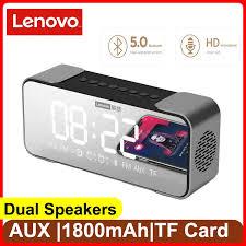 <b>Lenovo L022 Bluetooth</b> speaker bluetooth 5.0 LED Alarm clock ...