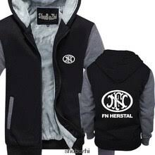 Новинка, пуловер с логотипом FN Herstal, Черная Мужская ...