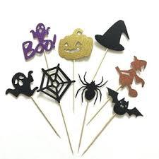 <b>8 PCS</b>/Pack Cake Inserted Card <b>Universal</b> Cake Decor <b>Halloween</b> ...