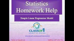 simple linear regression model statistics homework help by simple linear regression model statistics homework help by classof1 com