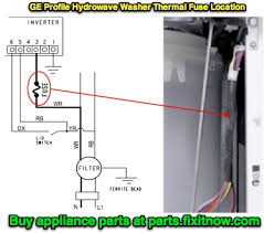 """how to locate the thermal fuse in a ge profile """"hydrowave"""" washer ge hydrowave washer thermal fuse location"""