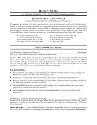 resume examples hospitality resume examples hotel conference   resume examples qualified hospitality manager as coaching motivating staff and account management retention professional