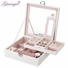 Guanya Makeup Storage Box Environmental PU Leather <b>Jewelry</b> ...