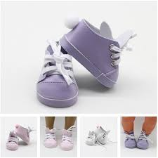 <b>7cm Rabbit Shoes Purple/Pink/White</b> For 18 Inch American Doll ...