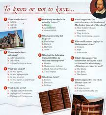 william shakespeare and the globe theatre a little quiz about shakespeare