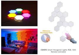 <b>Smart Hexagonal Lights RGB</b>, 10W, Remote controlled - PRO IDEAS