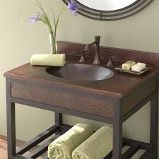 designs sedona table top base: sedona copper bathroom vanity top with sink antique finish