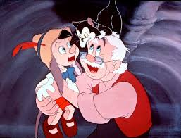 Image result for pinocchio and geppetto in the whale pictures