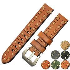 ZLIMSN High Quality Thick Genuine Leather Watchbands 20 <b>22 24</b> ...