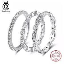 <b>ORSA JEWELS 925 Sterling</b> Silver Rings Women Unique Twisted ...