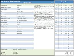 menu recipe cost spreadsheet template the menu recipe cost spreadsheet template