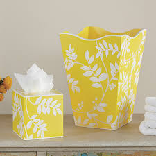 yellow bathroom decor images yellow bath decor by color yellow fern wastebasket and tissue set