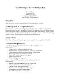 fashion technical design resume