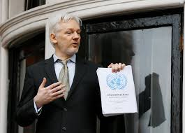 wikileaks dumped email qatar promised million check to bill wikileaks founder julian assange holding a u n report speaks on the balcony of the ean