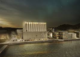 inspired kitchen cdab white brown: winners announced for norwegian competition to convert grain silo into art museum winning proposal by